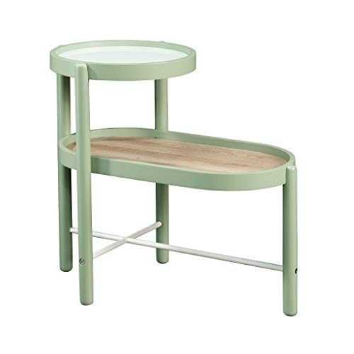 Sauder Anda Norr Side Table, L: 14.96' x W: 25.12' x H: 21.69', Sage Green Finish