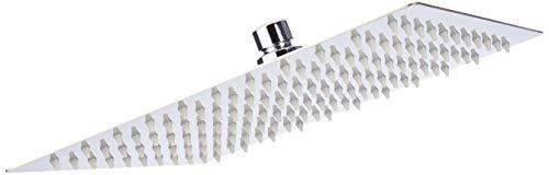 Artbath 1010JX, soffione doccia ultra sottile con effetto a pioggia, in acciaio INOX 304, quadrato, 25,4cm