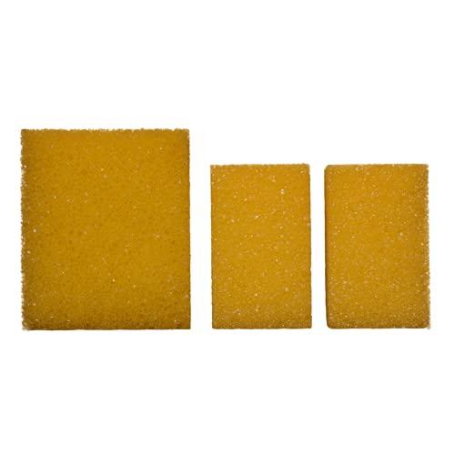 Juego de 3 esponjas de limpieza para piedra de plata, piedra de arcilla, piedra blanca, multiusos, 1 esponja grande y 2 pequeñas
