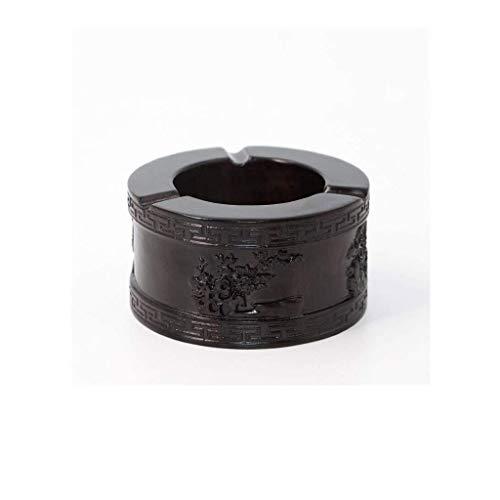 SHYPT Cenicero sólido Simple de Madera a Prueba de Polvo Inicio Retro de la Manera decoración del hogar Caja de Almacenamiento (Color : B)