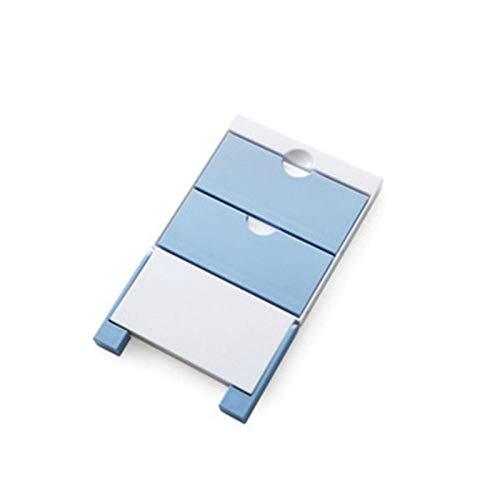 Toallero de pared lateral para nevera, soporte para toallas de papel, organizador de estante de almacenamiento o accesorio de cocina (tamaño único; color: azul)