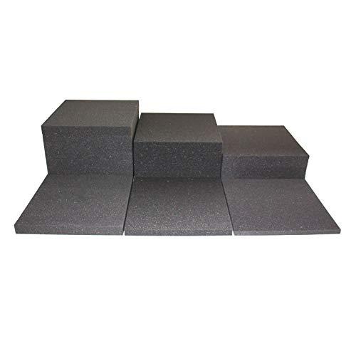 Prosanvita Stuhlkissen Schaumstoff-Zuschnitt 40x40 3 cm Höhe, für Sitzbank-, Stuhl-Auflage, Sitzkissen, Polster, Farbe grau