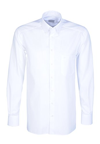 Jupiter Hemd Regular Fit Fil-à-Fil Button Down weiß 2240-11948 00