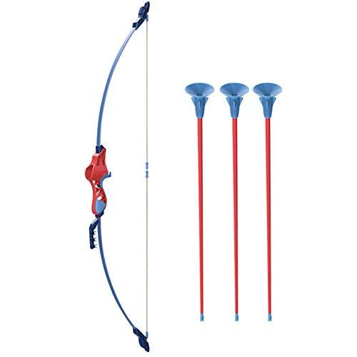 Juego de Arco y Flecha para niños Juego de Tiro con Arco para niños Juego de Tiro Deportivo al Aire Libre con Arco y Flechas de Ventosa para niños y niñas de 4 años y Mayores (Color : Rose Red)