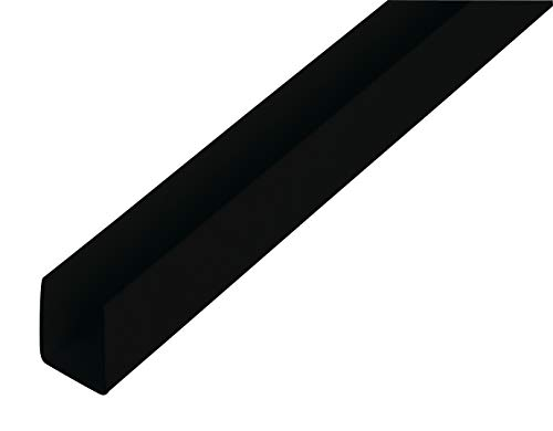 GAH Alberts 484606 Profilé En U, Noir, 1000 x 18 x 10 mm