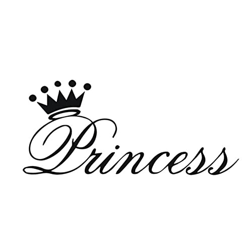 MDGCYDR Pegatinas Coche Personalizadas 25 * 11Cm Beautiful Princess Crown Stickers, Interesting Stickers and Decals On Cars