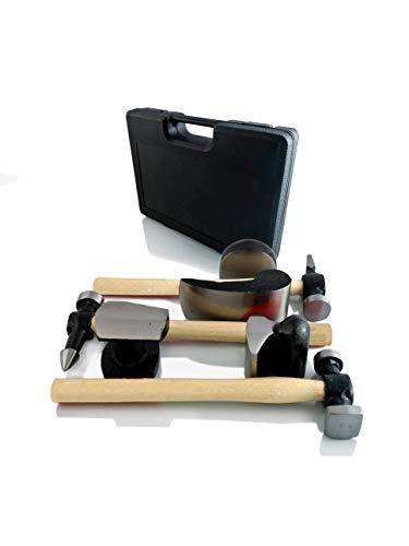 BenBow, martelli e incudini a mano, 7pezzi set/manico in legno