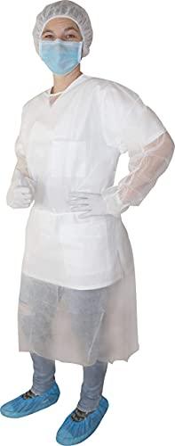 PP - Camici visitatore Camiciotti protettivi Medi-Inn 115 x 137 cm 10 Pezzi Vari Colori - bianco, 115 x 137 cm