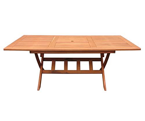 GRASEKAMP Qualität seit 1972 Klapptisch Cuba 200 x 100 cm Natur Akazienholz Gartentisch Esstisch