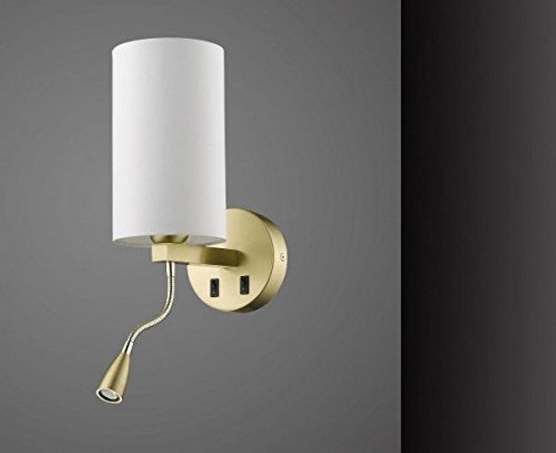 Sorpetaler Leuchten LED Wandleuchte und Wandlampe in Messing mit flexiblem Arm