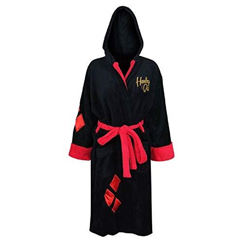 DC Comics Harley Quinn Bombshell Ladies Fleece Robe (One Size) Black