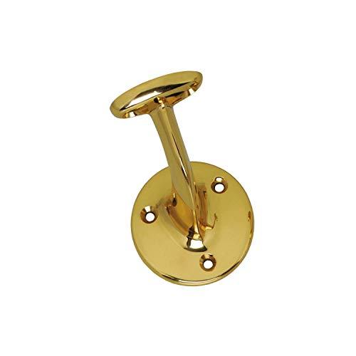 Handlaufst/ützer Handlaufhalter aus Messing Gel/änderhalter Treppengel/änder St/ütze runde Auflage Frontmontage