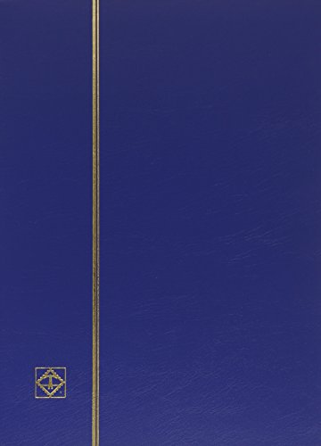 Lighthouse Hardcover Stamp Album Stockbook With 64 Black Pages, Blue, LS4/32