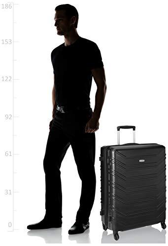 Amazon Brand - Solimo Cruiser Hardside Trolley, Black, 75 cm