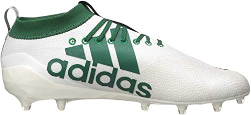 adidas Herren Adizero 8.0 Fußballschuh, Weiá (Weiß/Dunkelgrün/Fettgrün), 50 EU