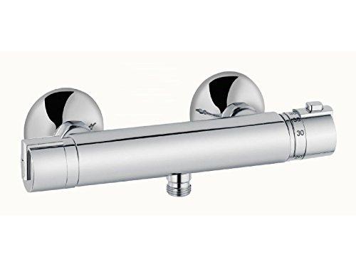 heinrichschulte Thermostat Brausearmatur - Duscharmatur ascona_1 - ohne Brausegarnitur - Aufputzmontage