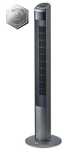 Trisa Electronics 9346.4310 Turmventilator Fresh Breeze, schwarz, 19 x 20.2 x 121 cm