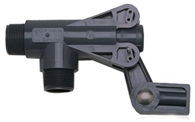 "Kerick Valve PS125SS PVC Float Valve, Standard Mount, 124 gpm at 50 psi, 1-1/4"" NPT Male by Kerick Valve"