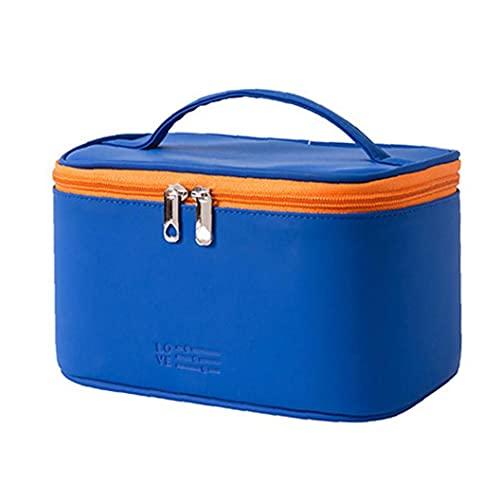 Sacs cosmétiques PU Zipe à glissière imperméable, sac cosmétique de voyage, articles de toilette, sac de rangement, bleu, beauté et soins personnels