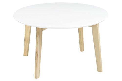AC Design Furniture 60333 tavolino da salotto Mia, piano in legno, laccato bianco