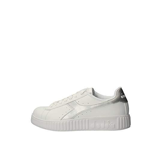 Diadora Game P Step Wn, Scarpe da Fitness Donna, Bianco (White/Silver C6103), 38 EU