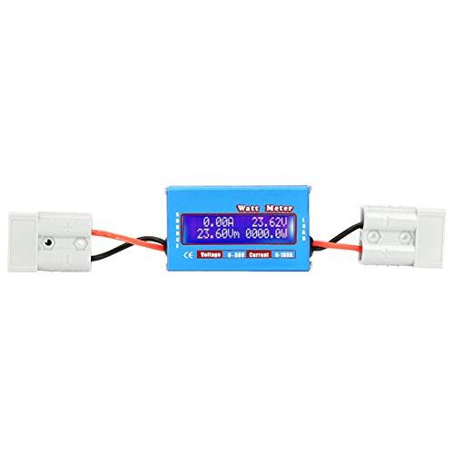 0-100A 0-60V Analizador de potencia de CC de alta precisión Watt Volt Amp Medidor de energía Analizador Herramienta RC Medidor de amperios de voltaje de batería con LCD digital