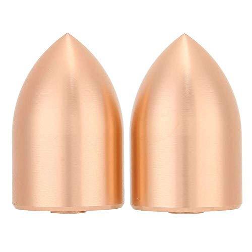 Yuyanshop 2 piezas de bocina de bajo sonido bocina bocina cabeza de tiro de aluminio puro cúpula cubierta a prueba de polvo para 25 núcleos bobina de voz, color dorado