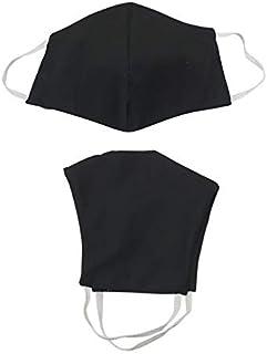 Máscara dupla face 100% algodão 80 lavagens - Preta