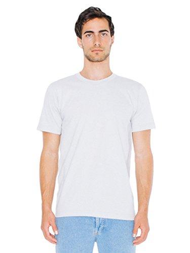 T-shirt à Manches Courtes en Coton Jersey Fin - White / M