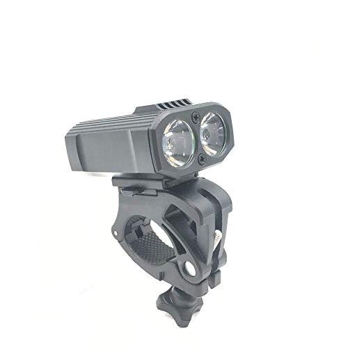 Lampe Torche LED 2T6 pour Phare de vélo avec Chargement USB, comme sur la Photo, Taille Unique