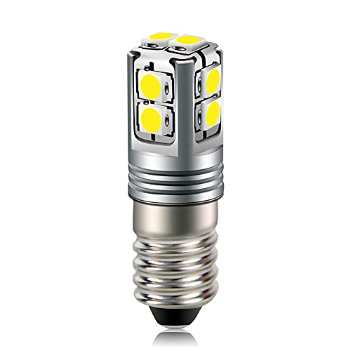 Ruiandsion Bombilla LED E10 6-40V blanca 3030 10SMD chips LED para faros delanteros linternas antorcha bicicleta trabajo luz no polaridad
