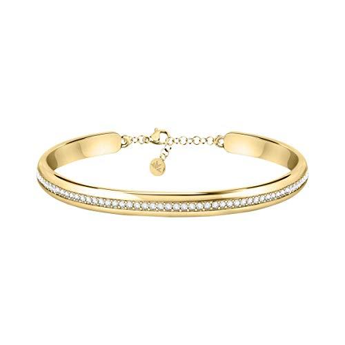 Morellato Bracciale da donna, Collezione Cerchi, in acciaio, PVD oro giallo, cristalli - SAKM73