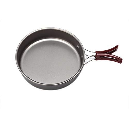 At6381 Utensilios de Cocina para Acampar Viajar Picnic Fuerte Senderismo Traje de Viaje Olla al Aire Libre Cocina al Aire Libre Picnic Pot-Sliver