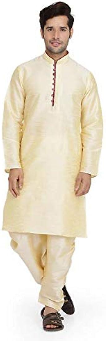Varmohey Kurta - Conjunto de Pijama para Hombre, Seda India ...