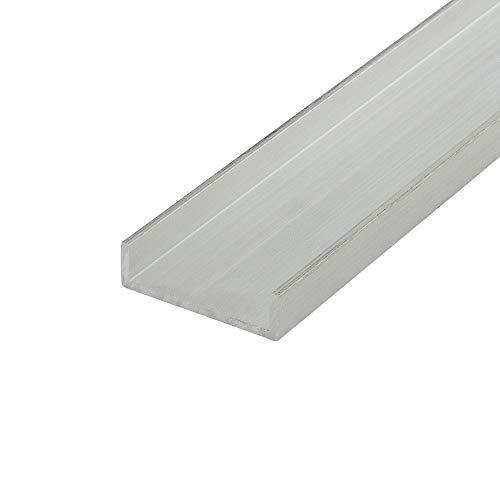 """Outwater Alu557-M Mill Finish 1"""" Inside Dimension Aluminum U-Channel/C-Channel 36 Inch Lengths (Pack of 4)"""