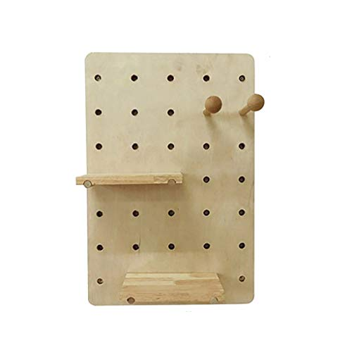 WALL RACKS BGJ Wanddekoration Regal aus Holz Loch Board Creative Wandbehang Home Storage Wand-Rack (Color : B1)