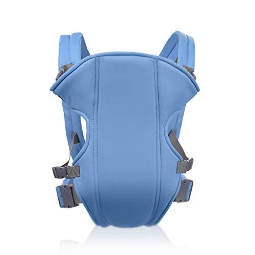 SONARIN 2018 Portabebés simple y ligero baby carrier, ligero, cómodo, transpirable, tamaño libre, poliéster, ergonómico, 3 Posiciones de transporte, seguro y cómodo,regalo ideal(Azul Claro)