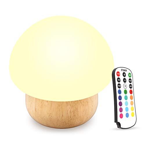 Luce di notte del LED, SUNNIOR silicone sveglio portatile del fungo Nursery lampada di notte per Camera da letto Soggiorno campeggio di picnic interna ed esterna