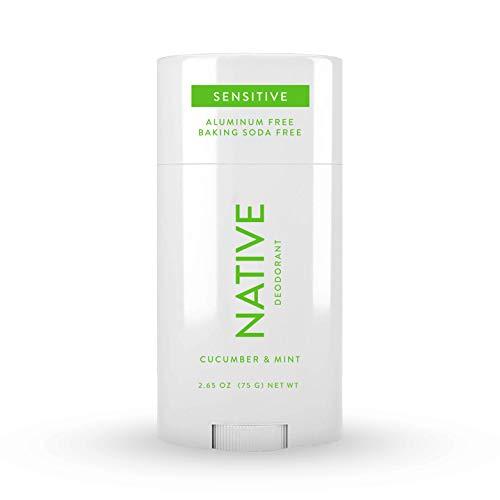 Native Deodorant- Natural Deodorant for Women and Men - Baking Soda Free - Contains Probiotics - Aluminum Free & Paraben Free, Naturally Derived Ingredients - Cucumber & Mint (Sensitive)