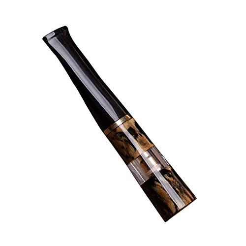 Porta cigarrillos de coral negro con filtro, porta cigarrillos circular lavable para cigarrillos Extar de tamaño delgado y regular