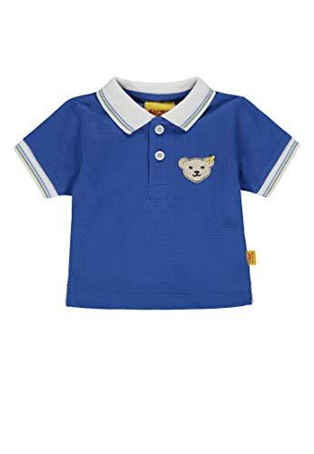 Steiff Steiff Baby-Jungen 1/4 Arm Poloshirt, Blau (Nautical Blue|Blue 3009), 104