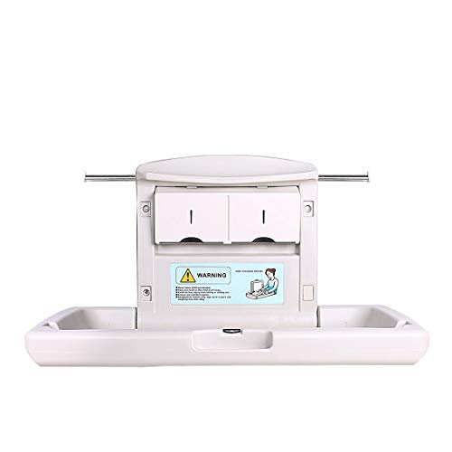 AB Baby Changing Station, Horizontal Wall Mounted, with Dual Liner Dispensers for 13