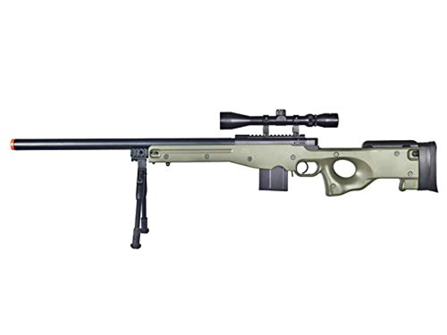 Well MB4401 Airsoft Sniper Rifle W/Scope and Bipod- OD Green