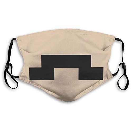 Mumbo Jumbo Mustache face mask Unisex Washable Reusable Mouth Black