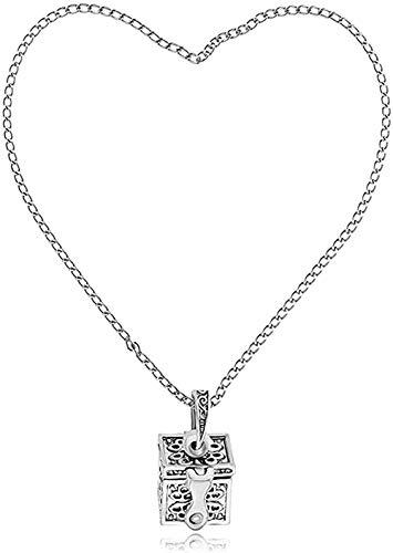 Yiffshunl Necklace Pandora Necklace S Secret Necklace Titanium Steel Cylinder Box Memorial Necklace Kinky Pendant Necklace Vintage Ornament Necklace Gift