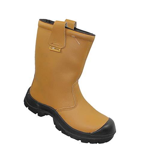 Centek UK S3 CI Sicherheitsstiefel Arbeitsschuhe Berufsschuhe Stiefel Beige B-Ware, Größe:46 EU