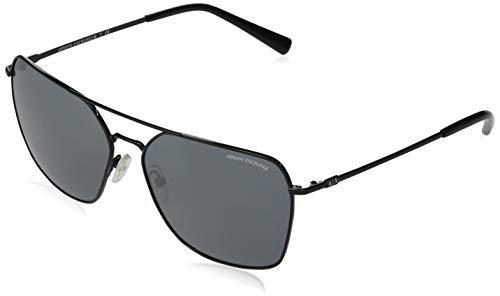 AX Armani Exchange Ax2029s - Gafas de sol cuadradas de metal para hombre