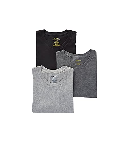 Polo Ralph Lauren Classic Fit w/Wicking 3-Pack Crews Andover Heather/Madison Heather/Black MD