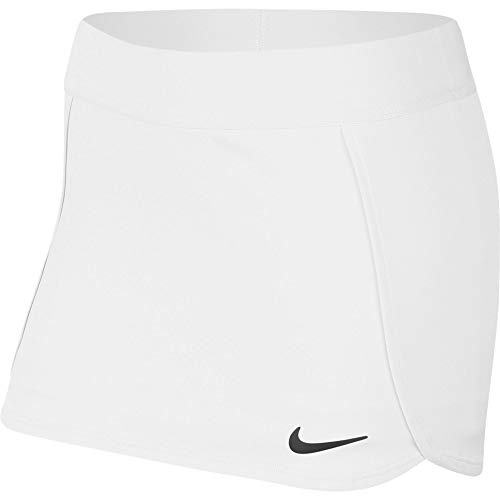 NIKE G Nkct Skirt Str Falda, Niñas, White/Black, XL