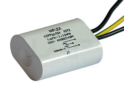 MIFLEX X1 Y2 Kondensator - Entstörkondensator KSPPpz-024 X1 Y2 0,4 uF 0,0025 uF für LED Funkentstörkondensator